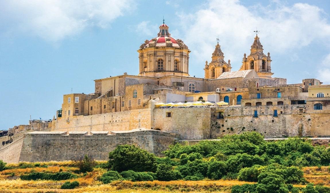Город-крепость Мдина на Мальте